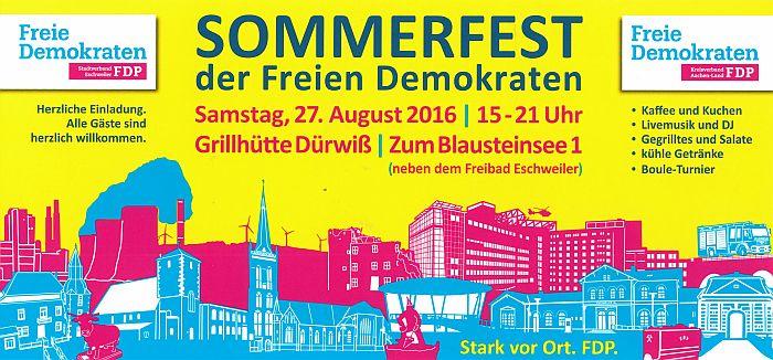 Liberales Sommerfest in Eschweiler