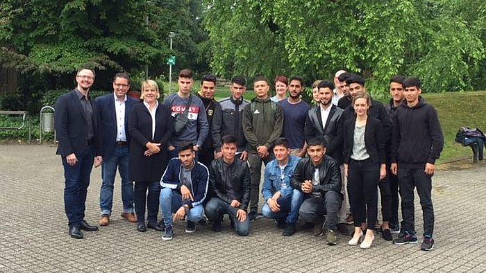 Berufskolleg Herzogenrath stolz auf Flüchtlingsintegration.
