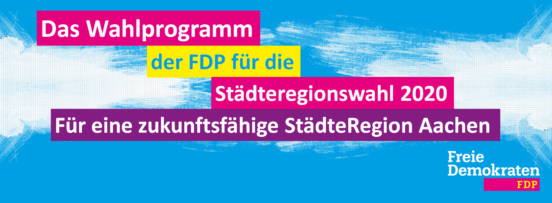Wahlprogramm der FDP für die Städteregionswahl im Jahr 2020