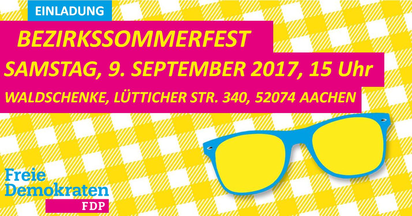 Bezirkssommerfest der FDP NRW in Aachen