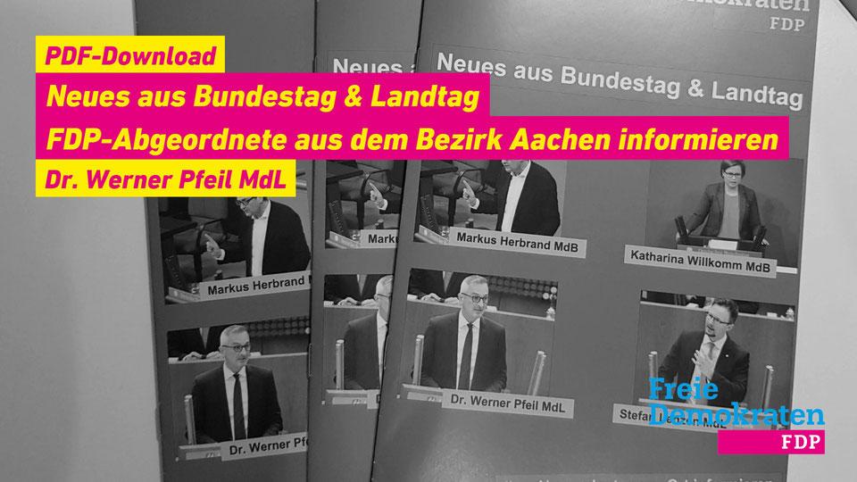 Aktuelle Berichte zur Arbeit im Bundes- und Landtag