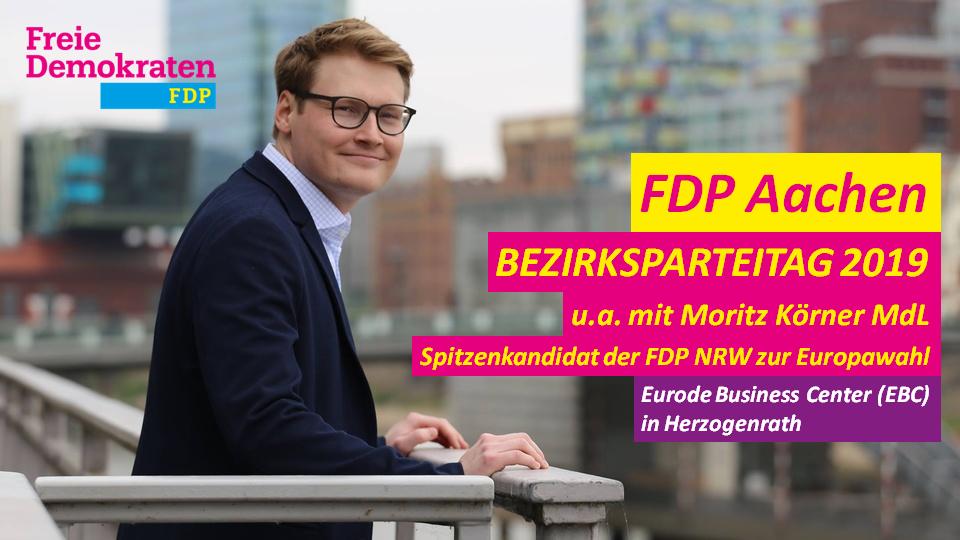Bezirksparteitag 2019 der FDP Aachen