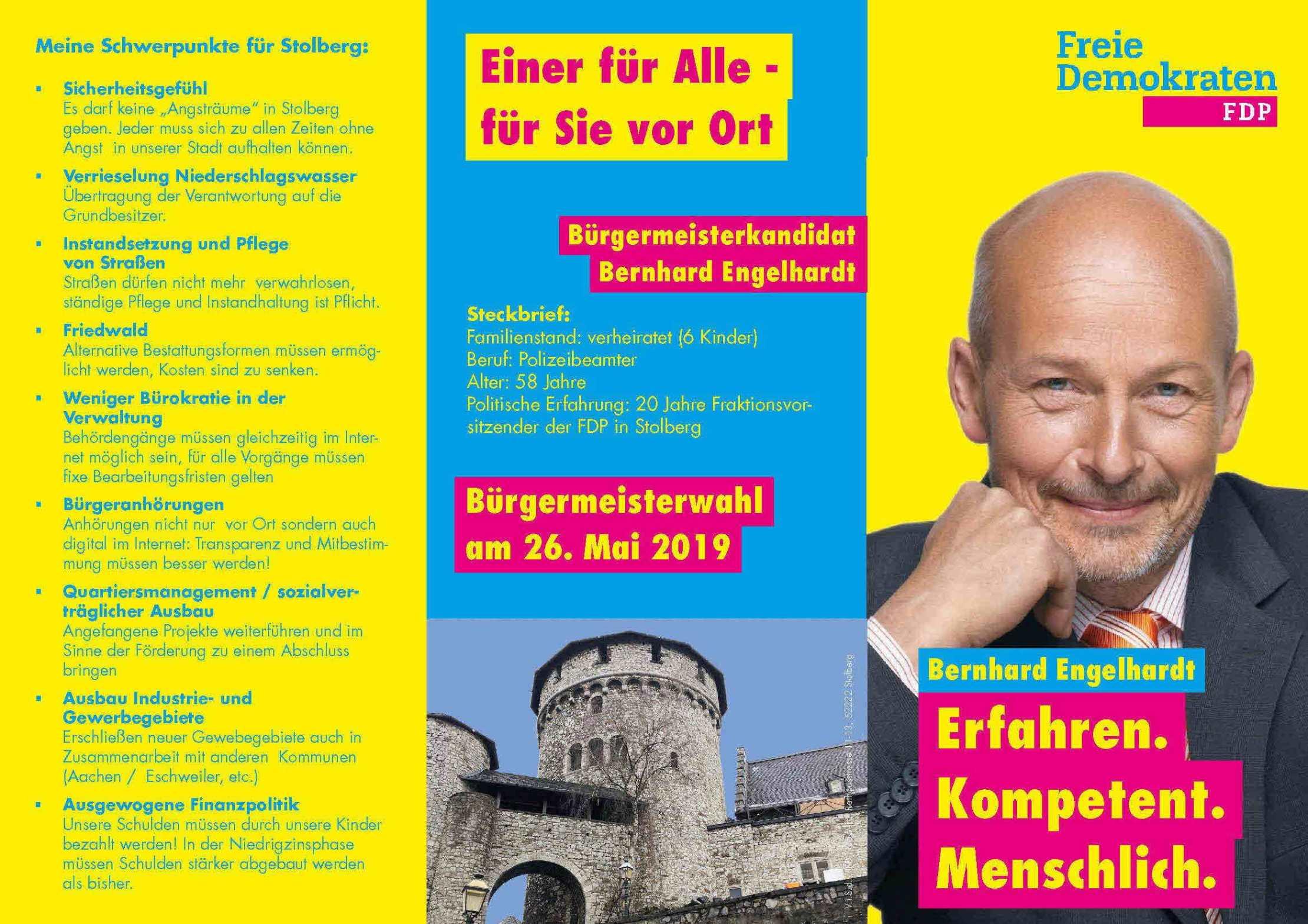 Bernhard Engelhardt: Ihr Kandidat für die Freien Demokraten
