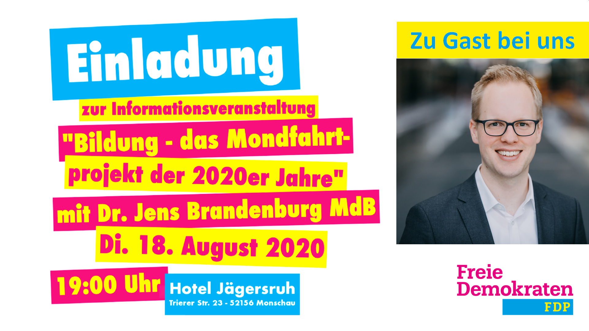 FDP Monschau: Veranstaltung mit Dr. Jens Brandenburg MdB