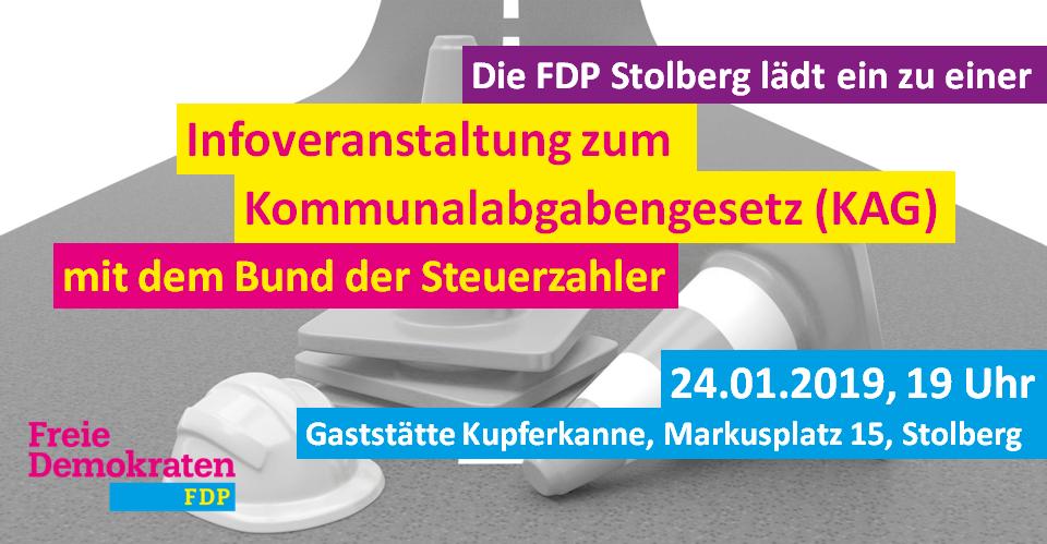 Veranstaltung der FDP Stolberg zum KAG