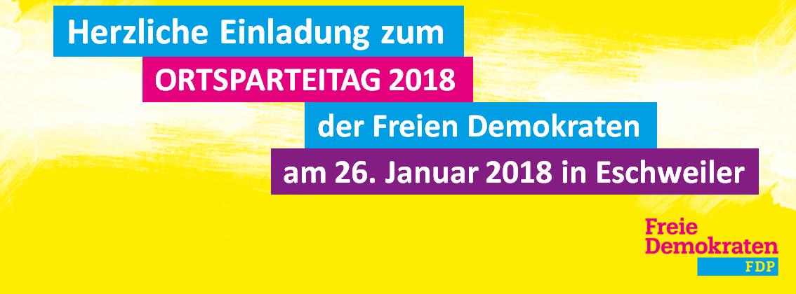 Ortsparteitag der Freien Demokraten Eschweiler